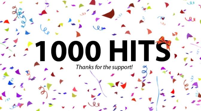 Cột mốc 1000 view – Lời cảm ơn chân thành đến bạn đọc và mọi người