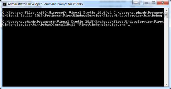 Install Command