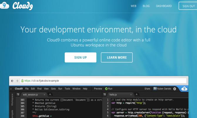 """Code trên """"chín tầng mây"""" cùng Cloud 9 IDE"""