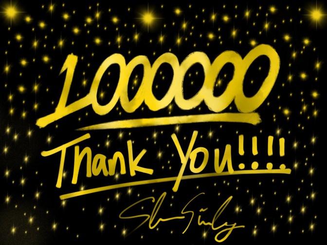 Mừng 1 triệu view đầu tiên và 6k like fanpage