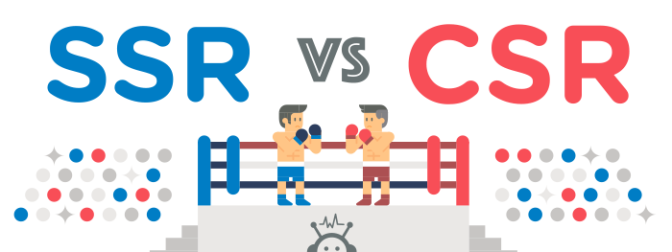 Sự khác biệt giữa server-side rendering và client-side rendering